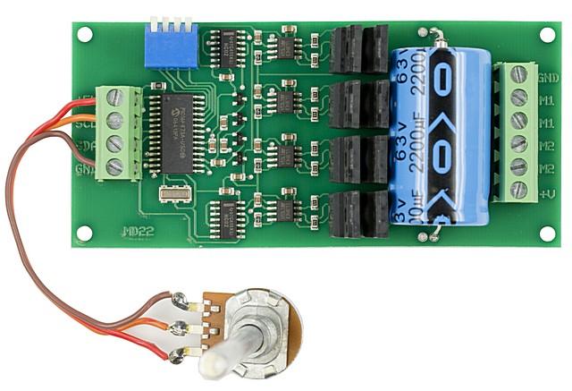 Circuito Variador De Frecuencia : Control de velocidad y giro para motor de corriente continua