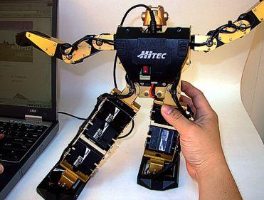 Hacer un movimiento es tan fácil como situar el robot en una posición y despues hacer clic en la pantalla.
