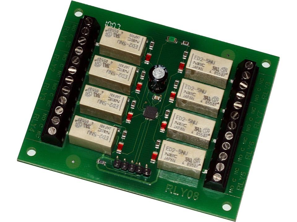 Circuito Serie : Circuito controlador de 8 reles i2c y serie rly08